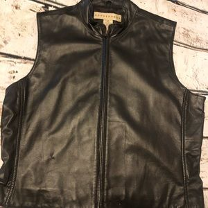 Apostrophe Leather vest and skirt set size 10